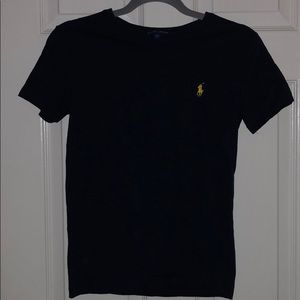 Navy blue tee with yellow Polo horse